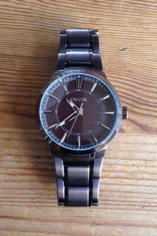 Herren Uhr Fossil - Kupferfarben - - Neue Batterie Bild