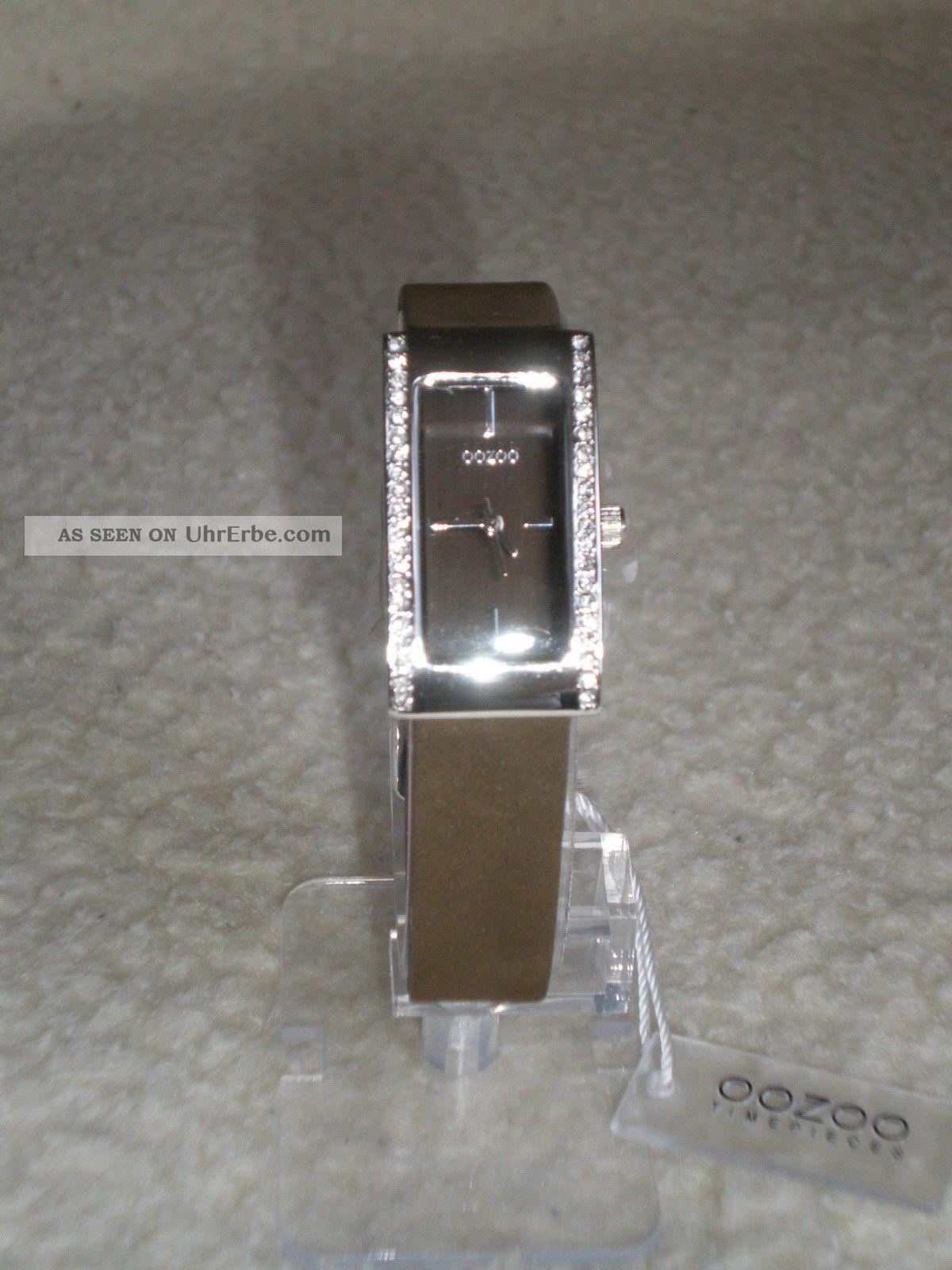 Oozoo Damenuhr C 2445 Rechteckt Format,  Braun Armbanduhren Bild