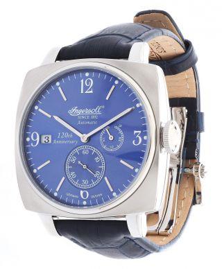 Ingersoll Herren Automatik Uhr Blau Galesburg In8014bl Uvp 299€ Bild