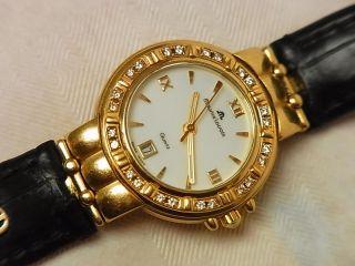 Maurice Lacroix Gold 18k 750 Mit 24 Brilianten Damenuhr Luxus 21,  9 Gramm Top Bild