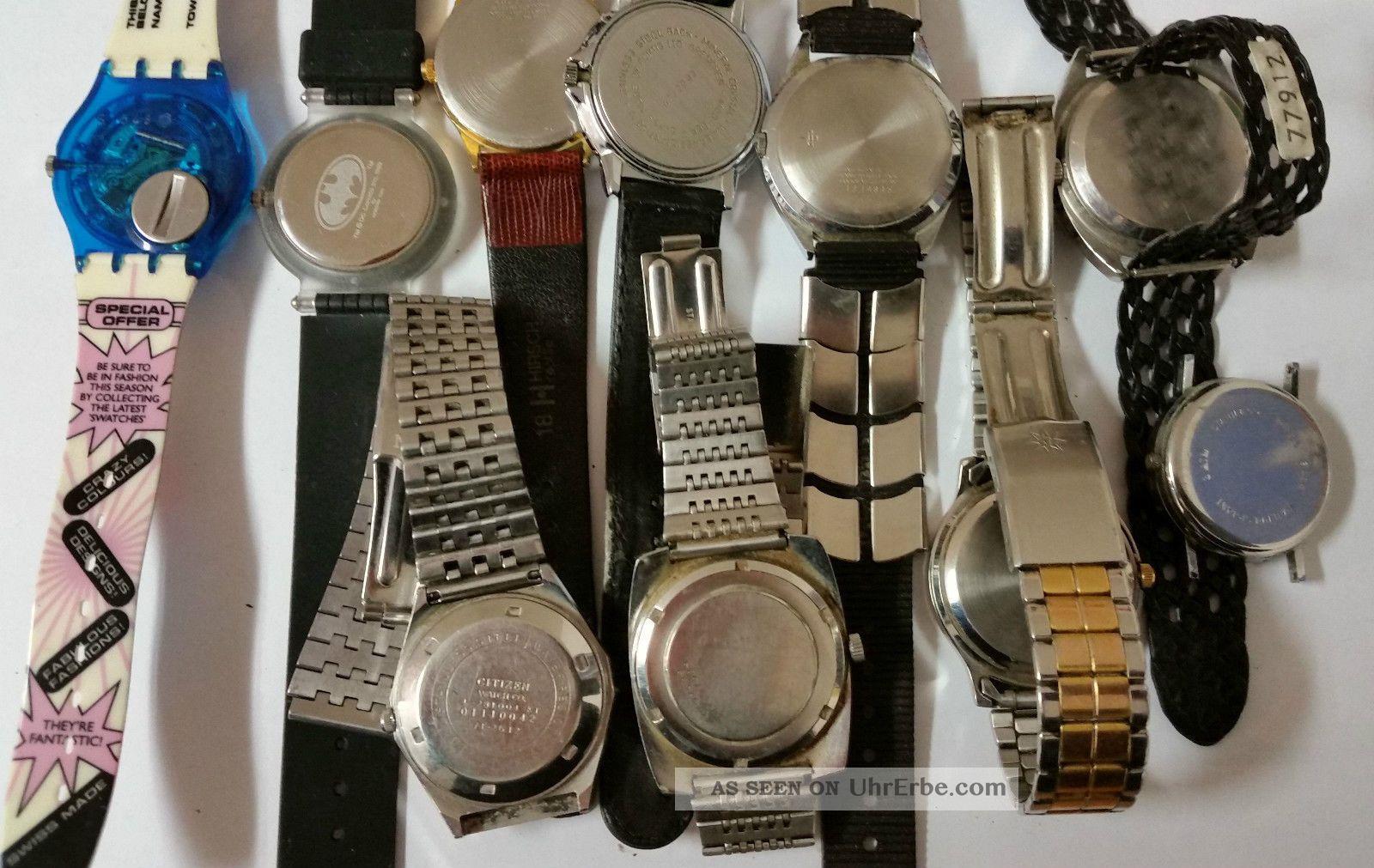 Konvolut - Armbanduhren - Herrenarmbanduhren Damenarmbanduhren Kinder - Defekt Armbanduhren Bild