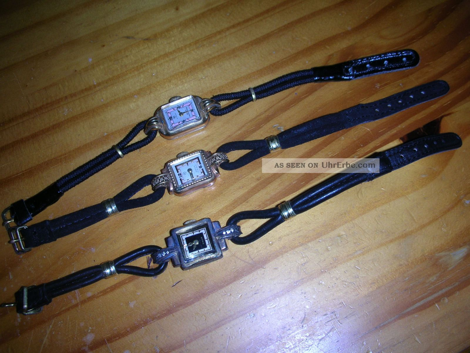 Historische Damenuhren,  3 Stück,  Alt,  Hf Anker 17 Rubis,  Zwei Laufen Noch Armbanduhren Bild