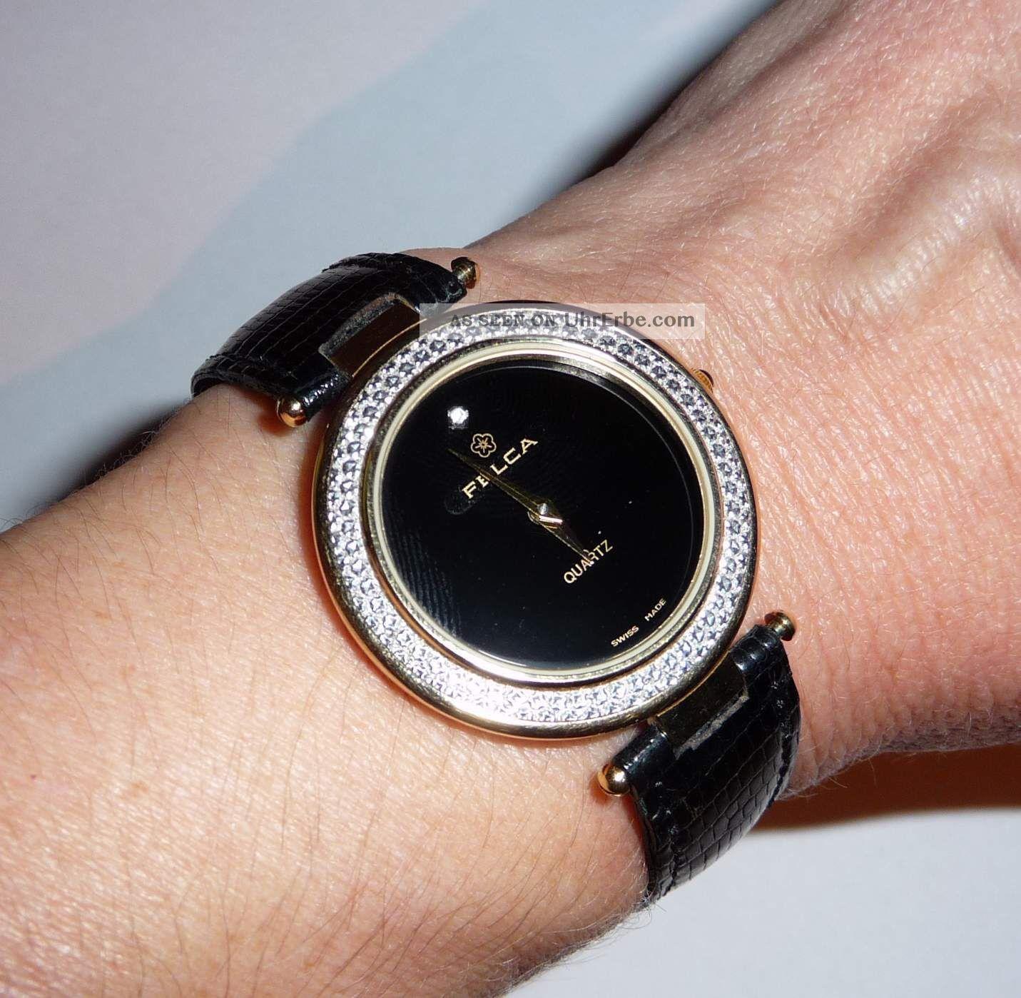 Felca Damenuhr Mit Steinchen,  Sehr Elegant Armbanduhren Bild