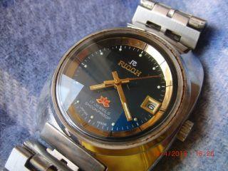 Ricoh Antik Classik Herren Uhr Date 17 Jewels Shockproof Bild