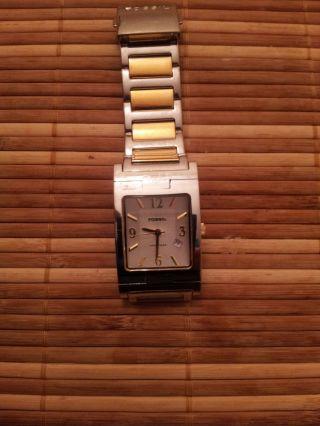 Sehr Schöne Uhr Von Fossil Arkitekt Fs - 2909 Mit Datums Anzeige Bild