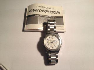 Citizen Chrono/alarm Herren Armband Uhr Bild