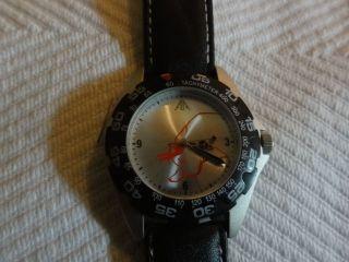 Pwc Analog Uhr Elegant Mit Lederband Wasserfest Bild