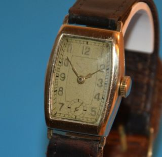 Hanhart Kaliber 36/38 Handaufzug Aus Den 1930er Walz - Gold - Double 20 Mikron Top Bild