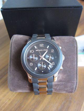 Michael Kors Uhr Mk 5658 Damenchronograph Braun - Roségold: Wie Neu–kaum Getragen Bild