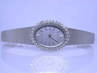 Elegante 0,  65 Kt Damen Goldband Brillant Uhr Tissot Saphir 750/000 Weißgold Bild