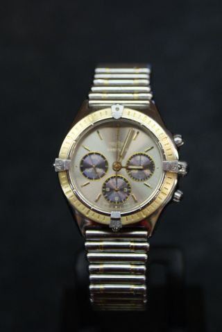 Breitling Windrider Stahl Gold Mit Roulleauxarmband Bild