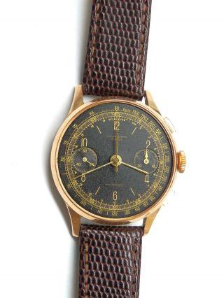 Antike 18k 750 Gold Chronograph Uhr.  Landeron 11 Bild
