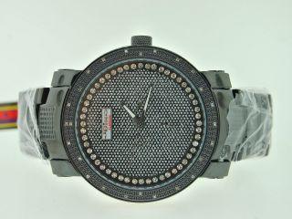 Armbanduhr Herren Joe Rodeo Jojo Jojino Scharz Zerdrückt Diamant Uhr Bild