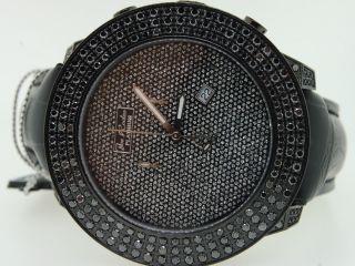 Armbanduhr Herren Joe Rodeo 3 Reihen Maßgefertigt Schwarz Diamant 6.  75 Karat Bild