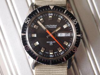 Waltham Blancpain Diver Automatic Vintage 60er Jahre Bild
