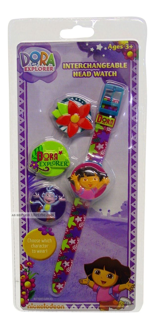 Dora The Explorer Auswechselbarer Kopf Lcd - Mädchen - Kinder - Armbanduhr - Geschenk Armbanduhren Bild