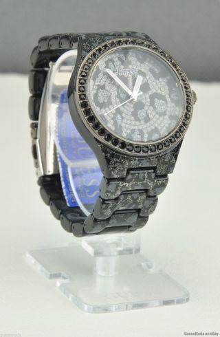 Uhr Uhren Guess Armbanduhr Damen Schwarz Leopard Plastik Quarz Deu Bild