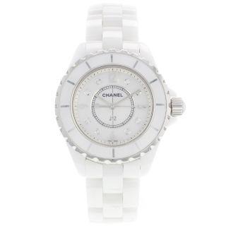 Chanel J12 H2570 Perlmutt Weiß Keramik - Quarz Damenuhr Bild