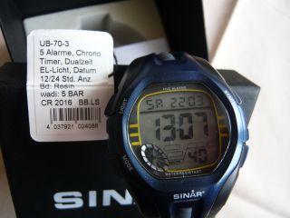 Herrenarmbanduhr Sinar,  5 Bar Wasserdicht,  Datum,  Alarm. Bild