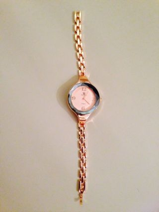 Bellos Damenuhr Rosegold Analog Armbanduhr - - Bild