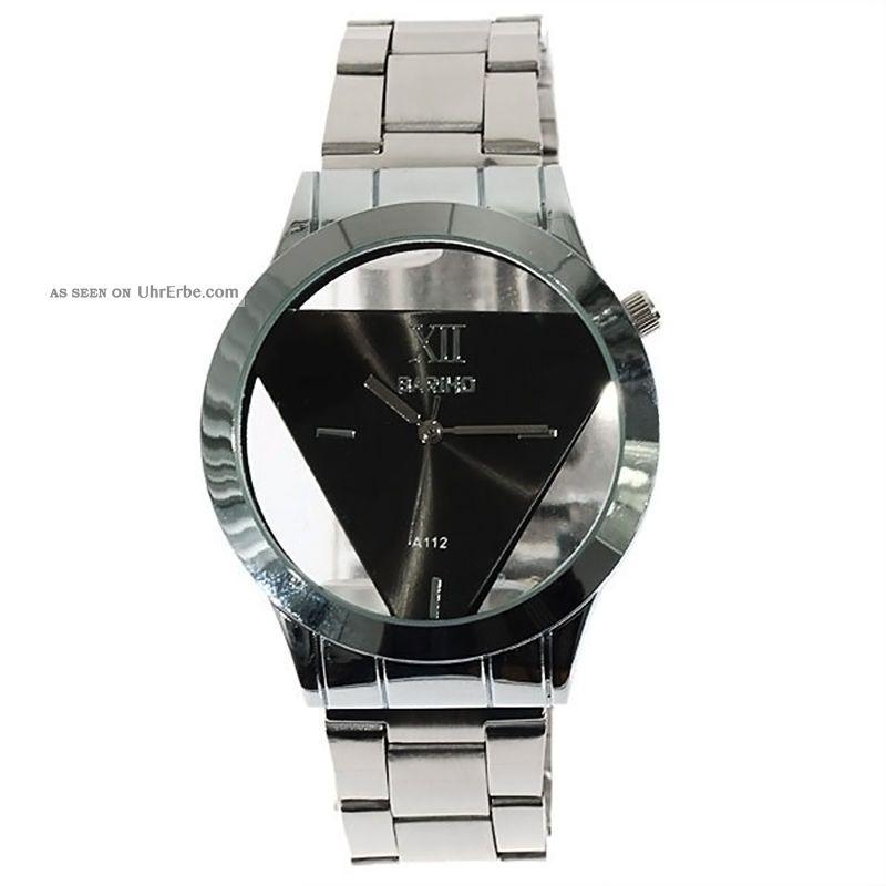 Fashion Edelstahl - Band - Uhr - Berg Dreieck Runden Zifferblatt Quarz - Armbanduhr Armbanduhren Bild
