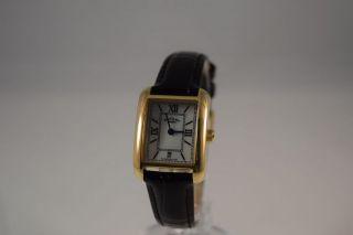 Rotary Damen Armbanduhr Vergoldet Ls02651/41,  Schwarzes Lederarmband Bild