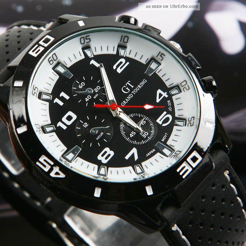 Mens Sport Armbanduhren Rubber Silikonband F1 Gt Armee Uhren Beiläufige Big Dial Armbanduhren Bild