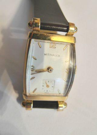 Vintage 1940 ' S Wittnauer Hau 10k Gold Filled,  Kompl.  Restauriert Gruen Bild