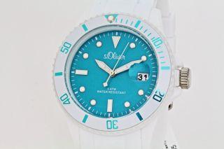 S.  Oliver Uhr Unisex Damen Weiß/blau So - 2717 - Pq Bild
