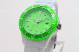 S.  Oliver Uhr Unisex Damen Silikon Weiß/grün So - 2719 - Pq Bild