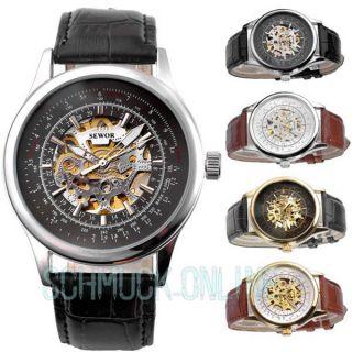 Sewor Elegante Herrenuhr Automatik Mechanische Herren Uhr Armbanduhr Mit Box Bild