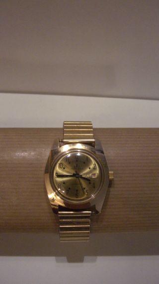 Armbanduhr Herren Edelstahl Vergoldet Bild