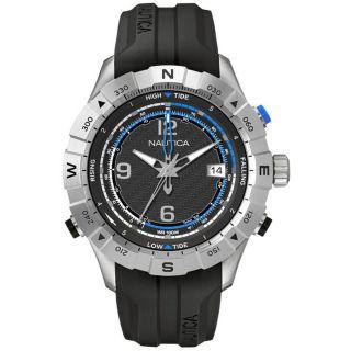 Nautica Nst 550 A21032g Herrenuhr Tide Temp Kompass Blau Schwarz Bild