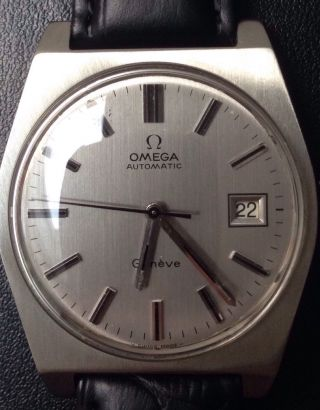 Omega Automatik Mit Neuem Omegalederband, Bild