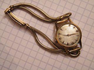 Damen - Gold - Uhr Gehäuse Aus 750 18k Band Aus 333 Gold Bild
