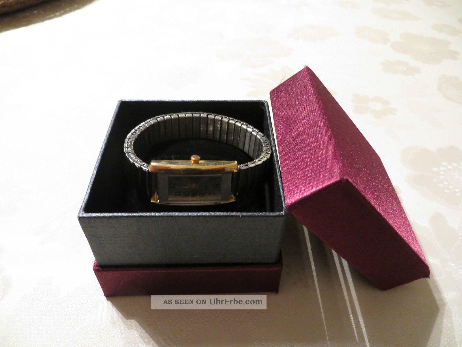 Armbanduhr,  Quartz,  Metall,  Stretch,  Weihnachtsgeschenk,  Silber - Und Goldfarben Armbanduhren Bild