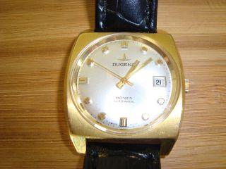 Dugena Monza Automatik Herren Vintage Uhr 70ger Jahre Design Mit Datumsanzeige Bild