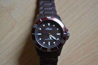 Schöne Armbanduhr Silikon S.  Oliver Braun Bild