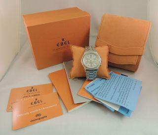 Herrenuhr Ebel Kaliber 137 Chronograph Edelstahl Automatik Mit Box Und Papieren Bild