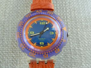 Red Shark Fire Scuba Taucheruhr Rar 1992,  Swatch,  Ovp Inkl.  Neue Batterie Bild