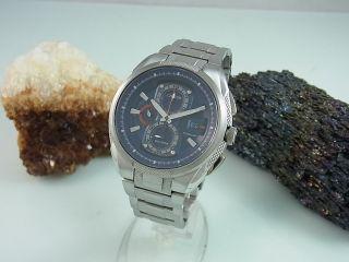 Citizen Eco Drive Chronograph Titanium Saphir Glas Herrenuhr Ca0201 Bild
