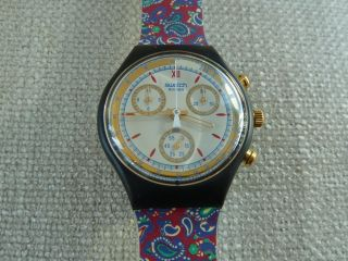 Paisley Haute Couture Chronograf Rar,  Swatch,  Ovp Inkl.  Neue Batterie Bild