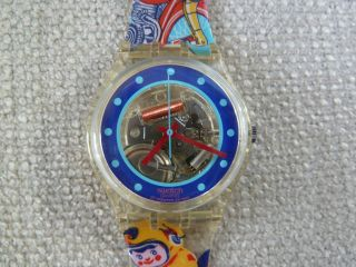Vintage Tin Old School V.  1992 Rar,  Swatch,  Ovp Inkl.  Neue Batterie Bild