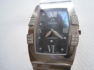 Omega Constellation Quadrella 48 Diamantbesatz Uhr Bild