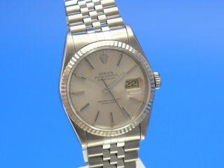 Rolex Datejust Herren Weißgoldlünette - Uhrencenterberlin Ankauf Von Luxusuhren Bild