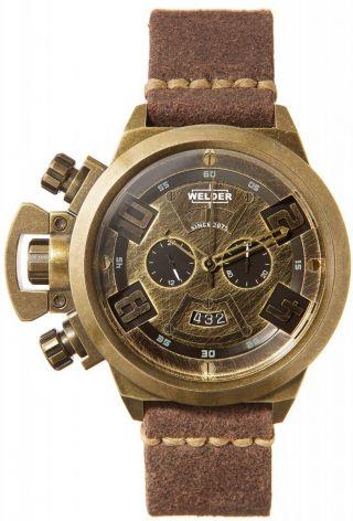 Welder K24 Vintage Messing Look 3601 Chronograph 50 Mm Ø Bild