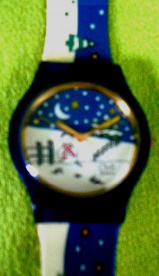 Kinderuhr - Armbanduhr - Winterlandschaft Bild