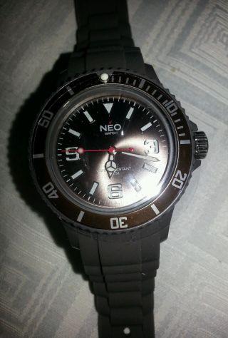 Schicke Uhr Neo Watch Armbanduhr Silikon Grau - Braun Mocca Ovp Weihnachten Bild