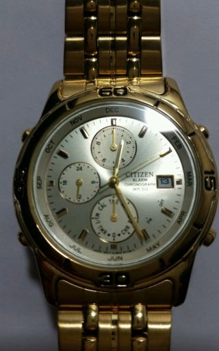 Citizen Chronograph Goldfarben Bild