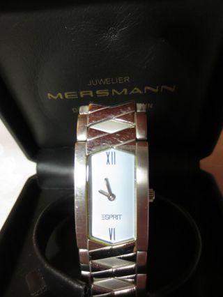Esprit Uhren Damenuhr Edelstahluhr Mit Gliederband 20 Mm Silber Bild